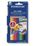 Estuche Staedtler con 12 Lápices Acuarelables de Colores Surtidos y un Pincel
