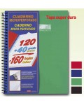 Cuaderno Enri Folio 160 H Rayado Tapa Extradura